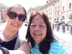 Vatican City selfie with mom